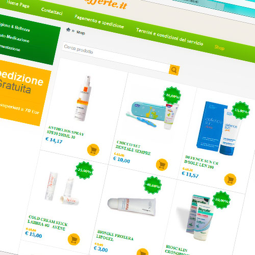 Shop on line del farmacista