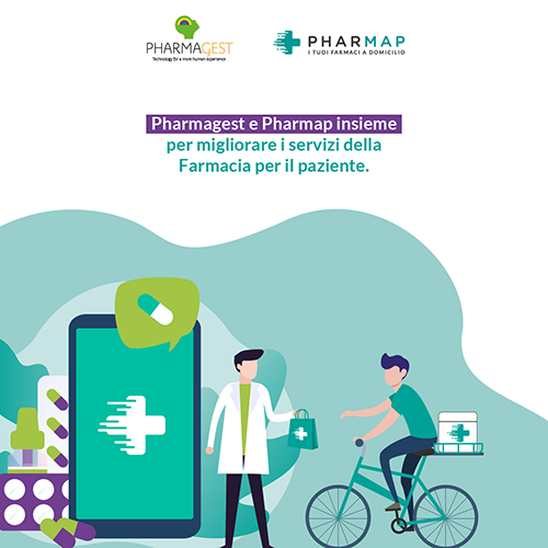 Pharmagest Italia sigla una partnership con Pharmap, soluzione home-delivery del farmaco numero uno in Italia.